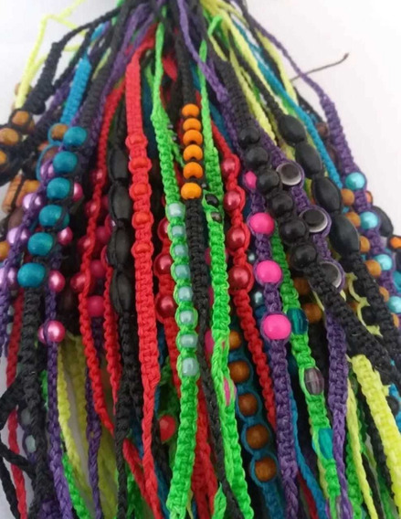 Pack 50 Tobilleras/pulseras Colores Surti + 10 Jamaiquinas