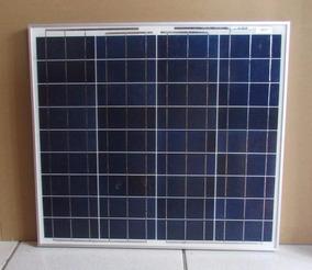 Painel Placa Solar 50w Inmetro + Controlador 10a + Cabos