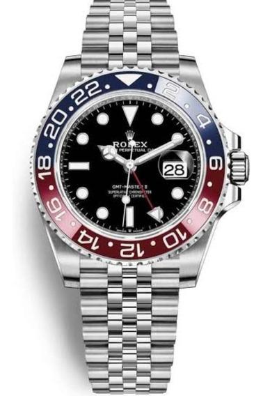 Relógio Rolex Gmt Master 2 Jubilee + Caixa Rolex + Brinde