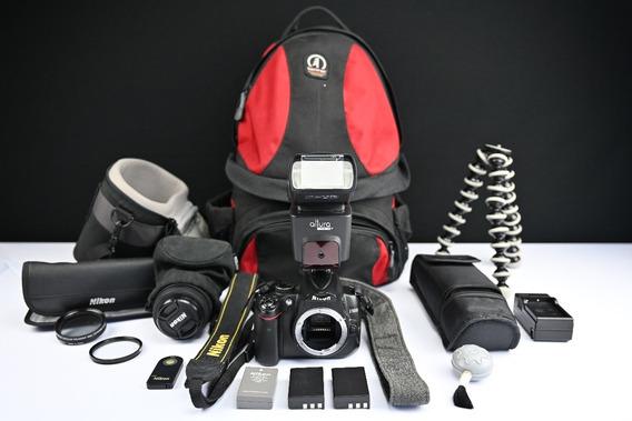 Kit Câmera Nikon D5000 + Lente 18-55 + Acessórios