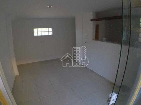 Apartamento Com 1 Dormitório Para Alugar, 45 M² Por R$ 1.050/mês - Itacoatiara - Niterói/rj - Ap2932