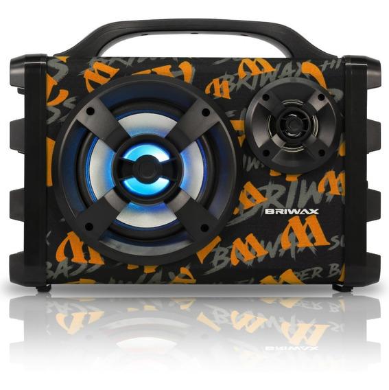 Caixa Som Bluetooth Amplificada 120w Rms Portátil Mp3 Usb Fm