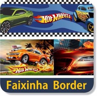12 Faixas Border Adesivo Parede Hot Wheels Carros Tunados