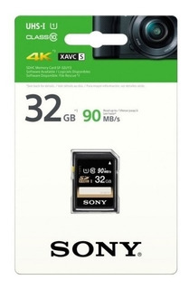 Tarjeta De Memoria Sony 32gb Sdhc Clase 10 R90 Uhs-1 Sf-32u