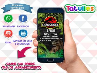 Convite Jurassic Park Digital Para Whatsapp