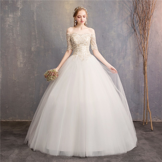 Vestido De Novia Barato De Encaje Princesa Con