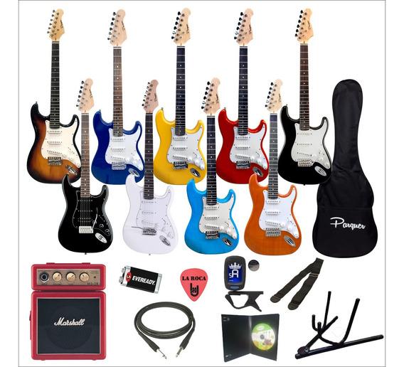 Combo Guitarra Electrica + Amplificador Marshall + Accesorios