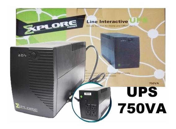 Ups 750va Explore Power Regulador 4 Toma 450w Garantía 6 Mes