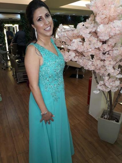 Vestido De Festa Verde Tiffany Longo