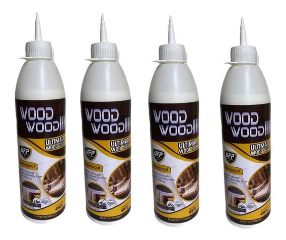 Cola Wood Wood 3 Atóxica Marcenaria Mdf Madeira - 4 Unids