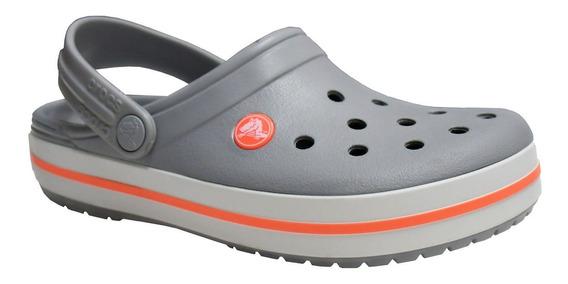 Crocs Crocband Gris/ Coral Originales Rc Deportes