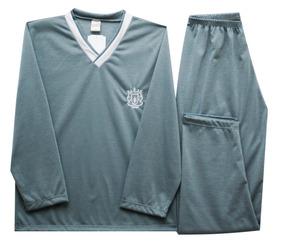Pijama Longo Infantil Masculino Liso Com Decote V-ref. 381