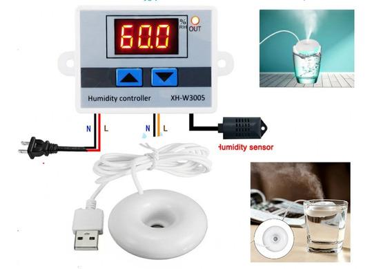 Controlador De Umidade Com Umidificador + Cooler 12x12+fonte