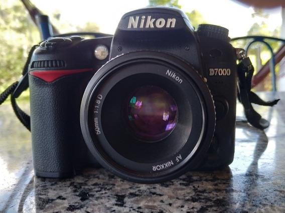 Câmera Nikon D7000 Com Lente 18-55mm, Lente 50mm E Grip