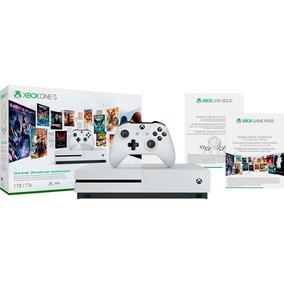 Xbox One S 1 Tb 3 Meses Live Gold 3 Meses Gamepass Branco
