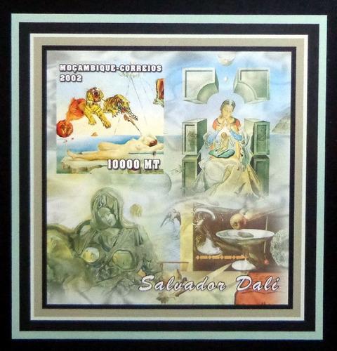 Mozambique Arte, Bloque 1 Sello Salvador Dalí 02 Mint L9360