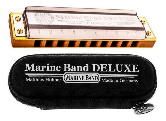 Gaita Harmônica Hohner Marine Band Deluxe Sí B Com Estojo