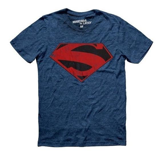 Playera Superman New 52 Logo Hombre Dc Comics Máscara De Lát
