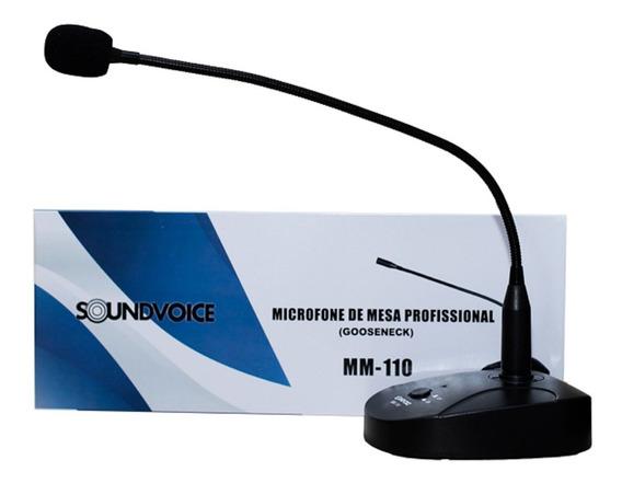Microfone De Mesa Profissional Mm-110 Haste 44cm Soundvoice