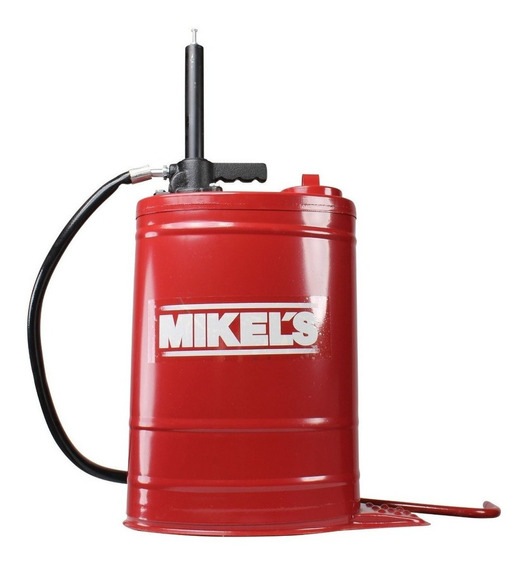 Cubeta Con Bomba Manual Para Aceite Mikels 19 Litros