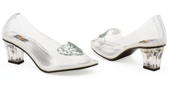 Zapatos Zapatillas Transparentes Princesa Cenicienta Damas 4