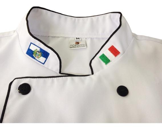 Jaqueta Chef Cozinheiro Padaria Confeiteiro Personalizado
