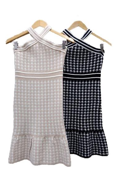 Vestido Feminino Tricot Curto Moda Trico Blogueira Roupa