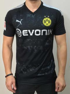 Camisa Borussia Dortmund Away Versão Jogador Pronta Entrega