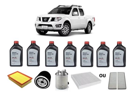 7 Óleo Do Motor 5w30 Dpf Diesel Nissan Frontier + Kit Filtro