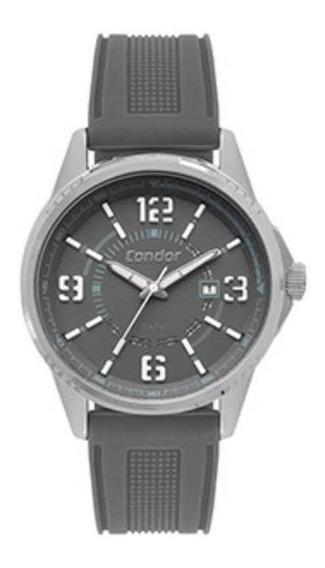 Relógio Condor Masculino Silicone Cinza Calendá Co2115kvk/3c