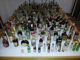 Colección Antiguo Botella Botellitas Miniatura Sellos Lote