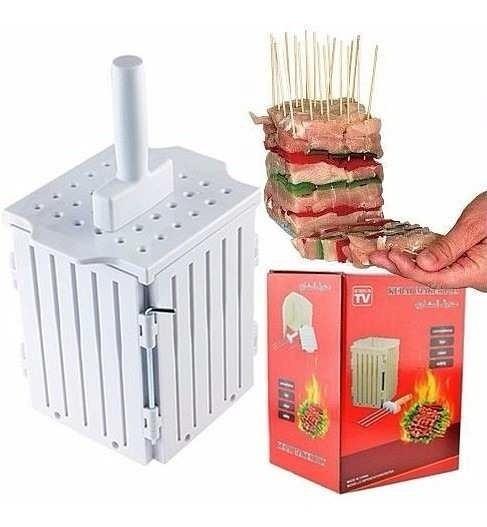 Maquina De Preparar Espetinhos Carne E Kafta 36 Espetinhos P