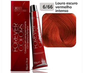 Coloração 6/66 Louro Escuro Vermelho Intenso - Forever Liss