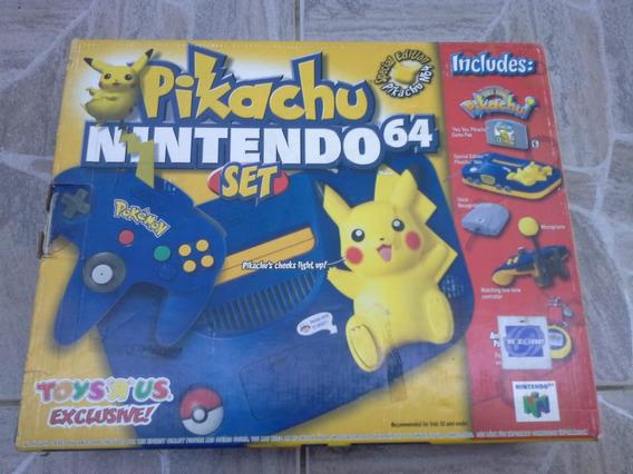 Console Nintendo 64 Pikachu Novo Completo C/relógio