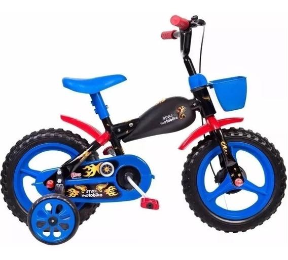 Bicicleta Bike Infantil Aro 12 Moto Bike Motinho Motoca