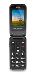 Multilaser Flip Up Dual SIM 32 MB Dourado 32 MB RAM