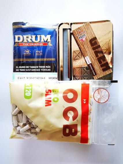 Kit Para Armar Cigarrillos Maq Automática Filtros Eco Ocb