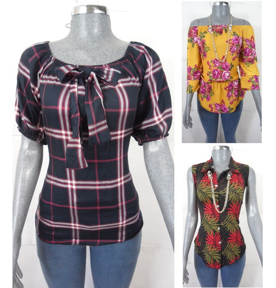 Ropa Casual Barata Para Mujer 15 Blusas Camisas De Moda