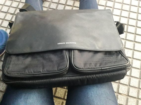 Morral Portanotebook Armani Exchange Nuevo Sin Uso
