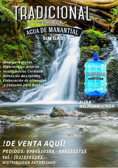 Agua Tradicional Embotellada