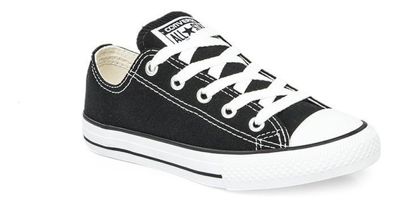 Zapatillas Converse All Star Negro Blanco Niño Exclusivas