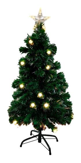 Arbol Navidad Fibra Optica Luz Led Multidestellos 1,50 Mts