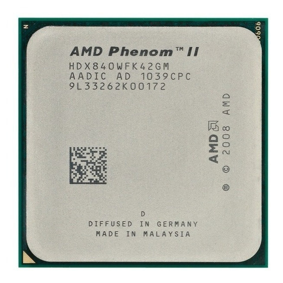 Proces. Phenom Amd I I X4 840 3.2ghz Quad Core Lga Am2+/am3