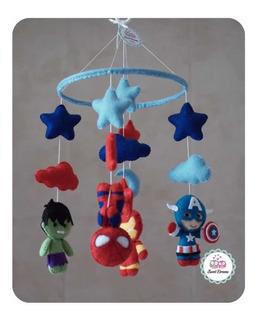 Móvil Cuna Avengers Bebé Niño Niña