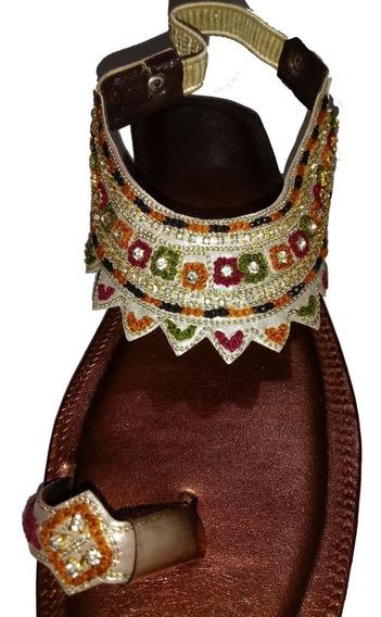 Sandalia Hindu Mujer Chatita Bronce