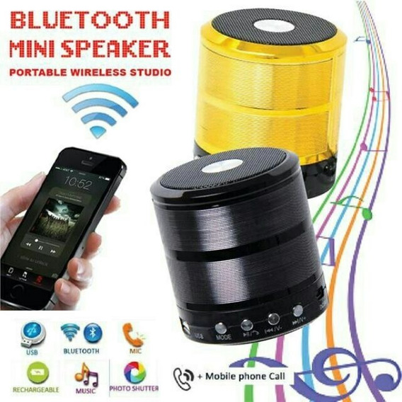 Mini Speaker, Pega Pen Drive, Cartão, Bluetooth