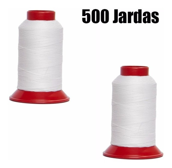 2 Linhas 10 Para Pipa 500 Jardas Cor Branca 100% Algodão