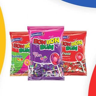 Chupeta Bombombum Paquete 24 Unidades.fresa,surtida,hielo.