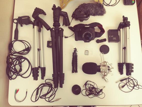 Camera Canon T5 I - Com Muitos Acessórios E Lente ! Top !