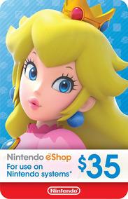 Nintendo Eshop Card - 35 Dolares - Manvicio Store - !!!